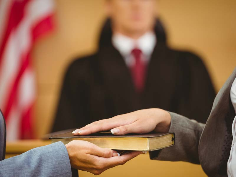 swearing in for expert testimony